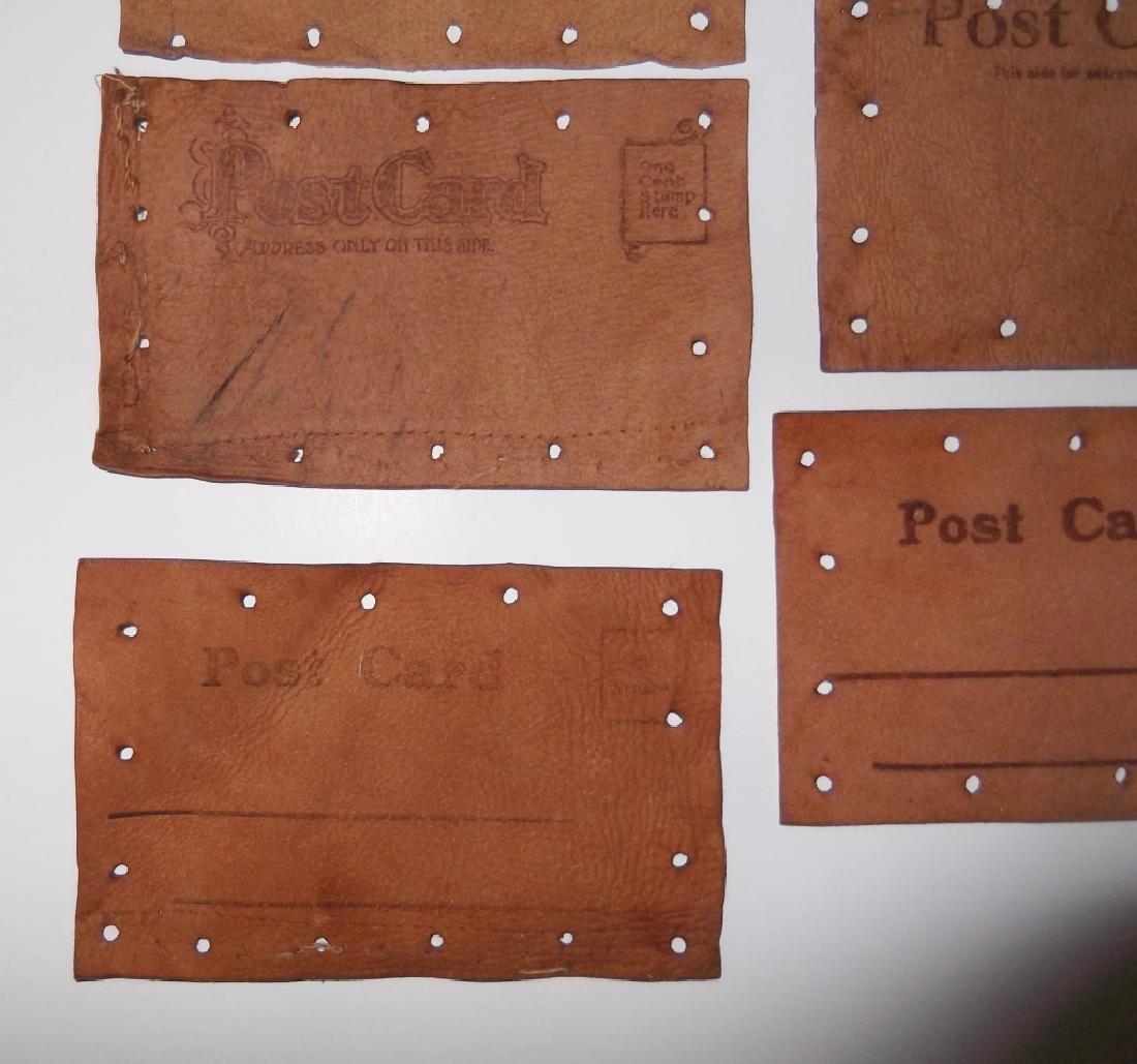 11 vintage leather postcards - 9