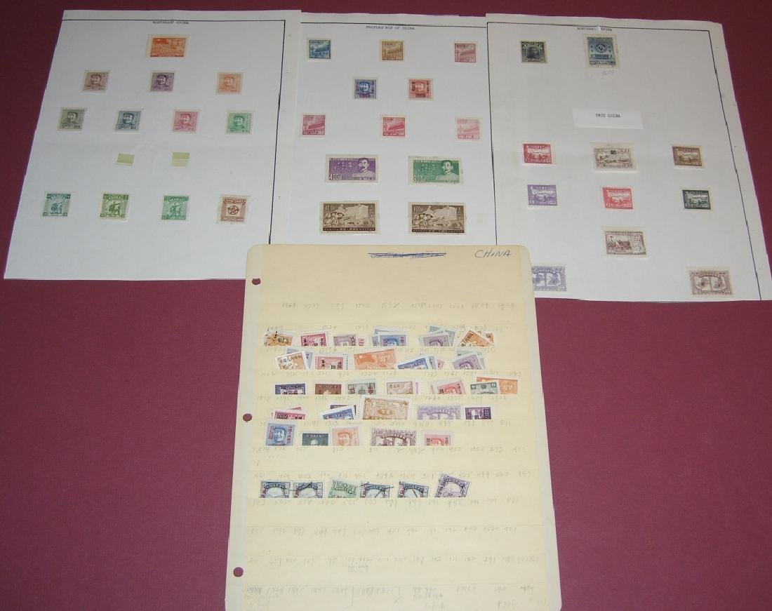 China mixed stamps lot