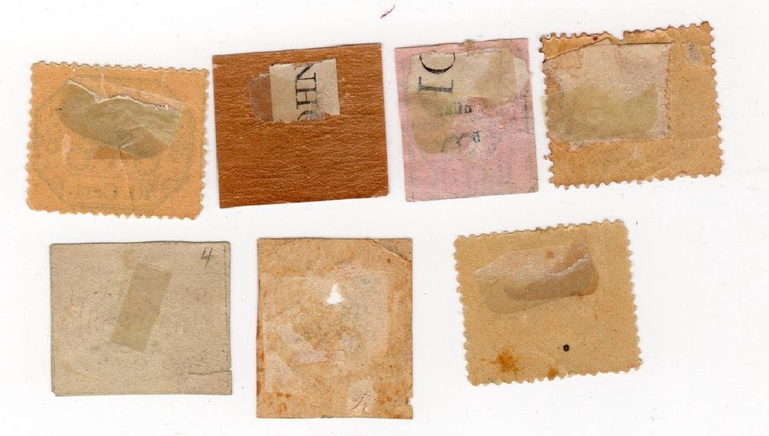 7 Italy Roman States stamps - 2