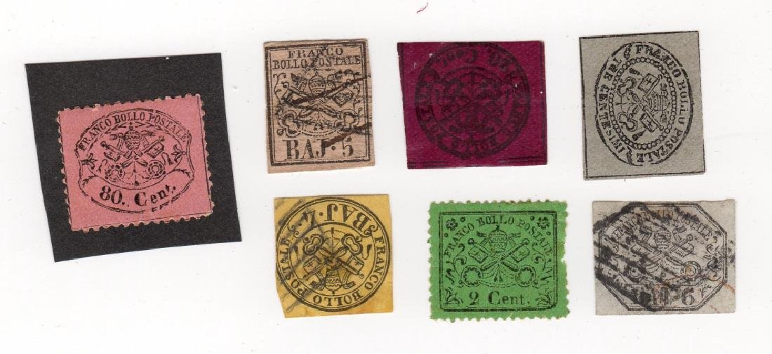 7 Italy Roman States stamps