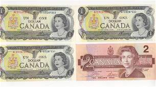 4 piece CanadaCanadian paper money