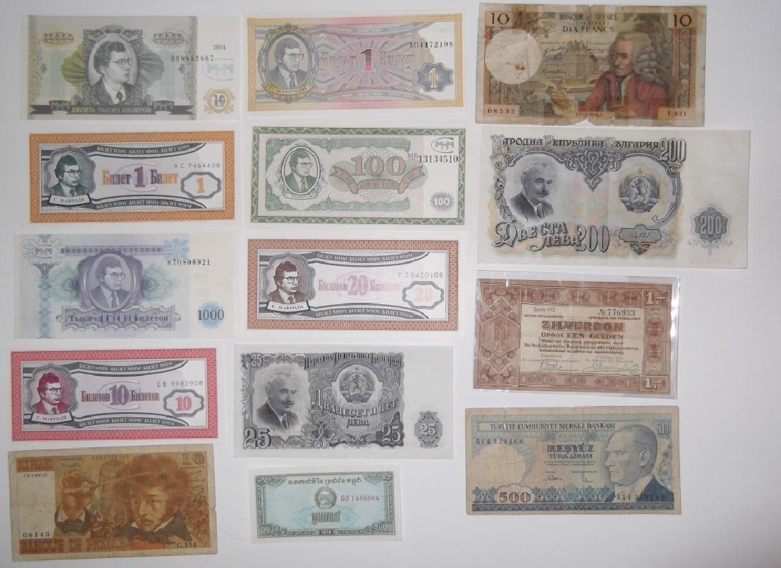 24 piece mixed world paper money lot