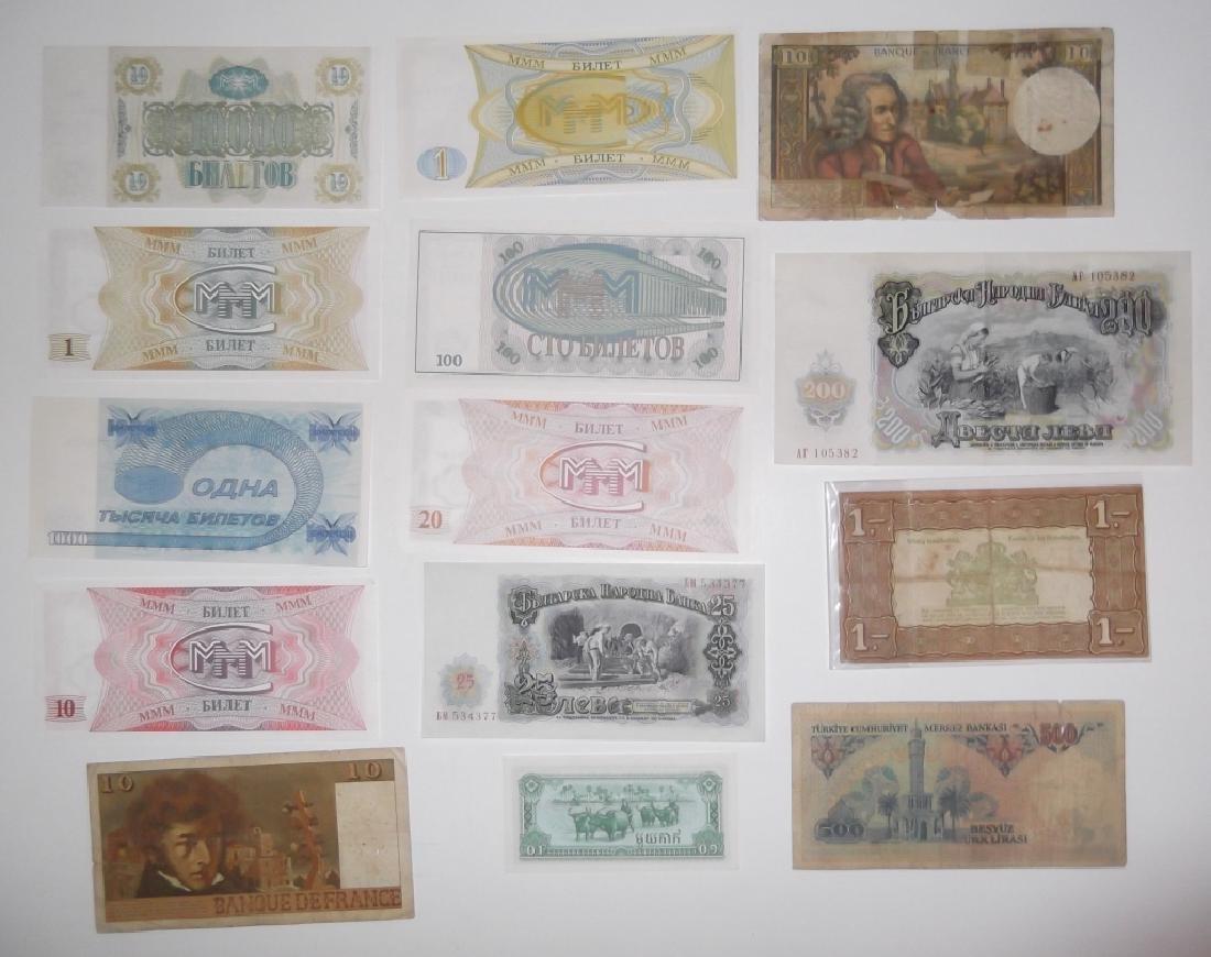 24 piece mixed world paper money lot - 2