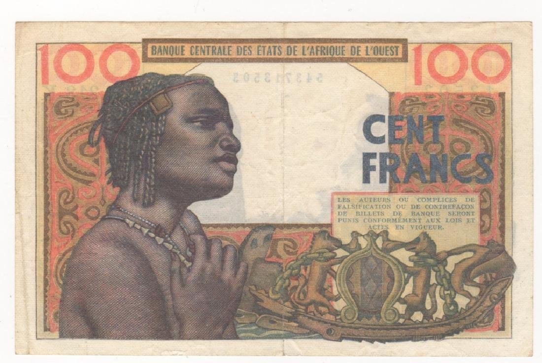 West African States 100 Francs paper money - 2