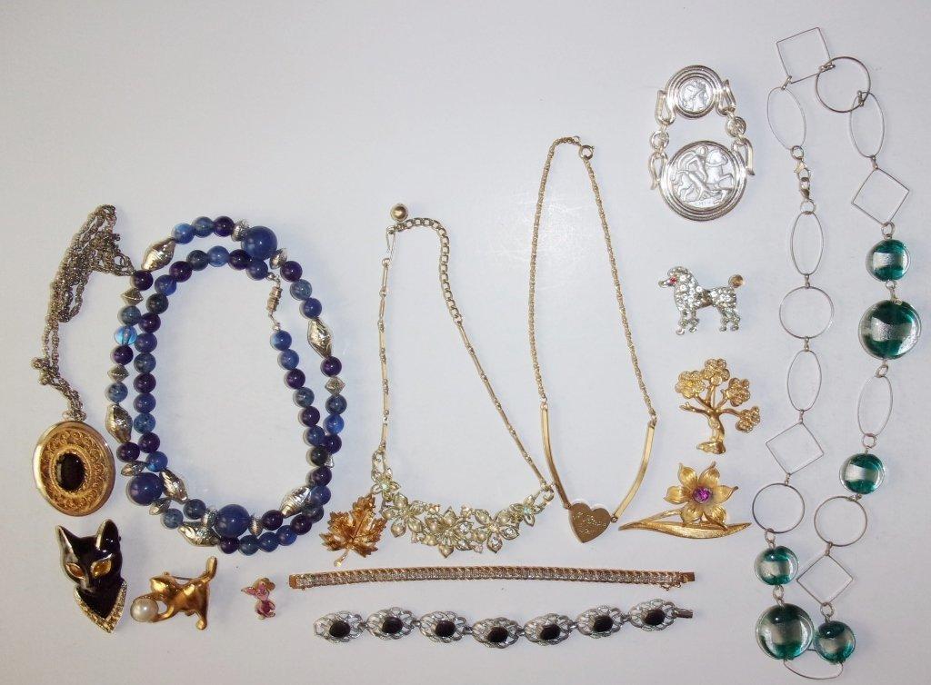 15 piece costume jewelry lot