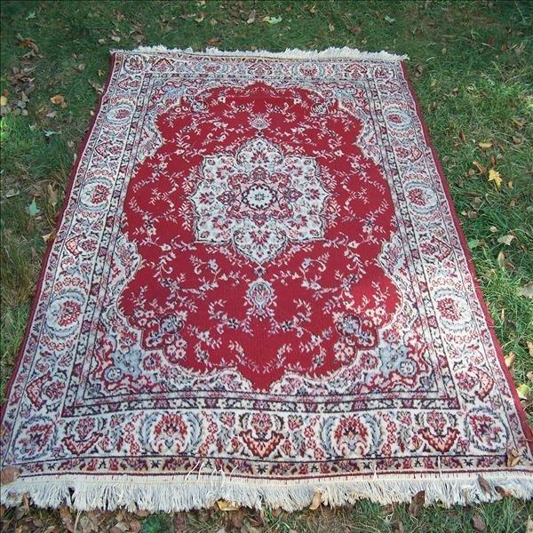 5: Red oriental rug, 6' x 8'