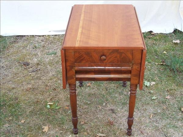 6: 1870-1890 Empire two drawer drop leaf stand