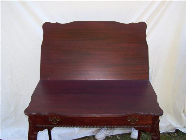 7: Chippendale style game table with claw feet