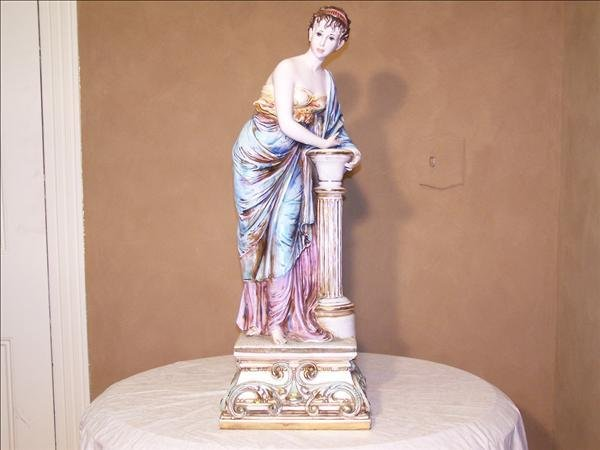 """12: Roman style Large statue of woman approx. 36"""" h"""
