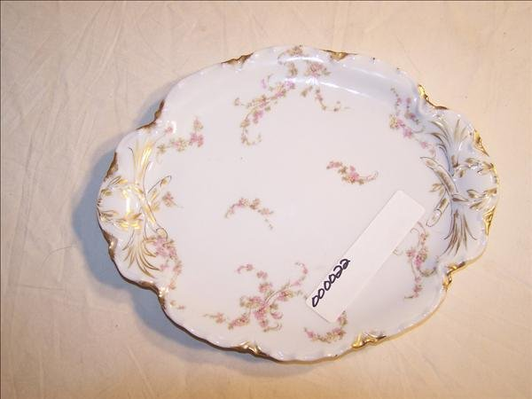 16: Signed Limoges floral pattern tray