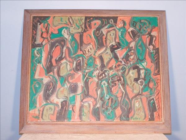 21: Oil on board signed Max Schnitzler, listed artist,