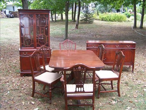 74 1940 S Dining Room Set Tables 6 Chairs Buffet Hutc