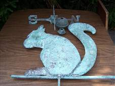 182: 19th/20th c. large squirrel weathervane, approx. 3