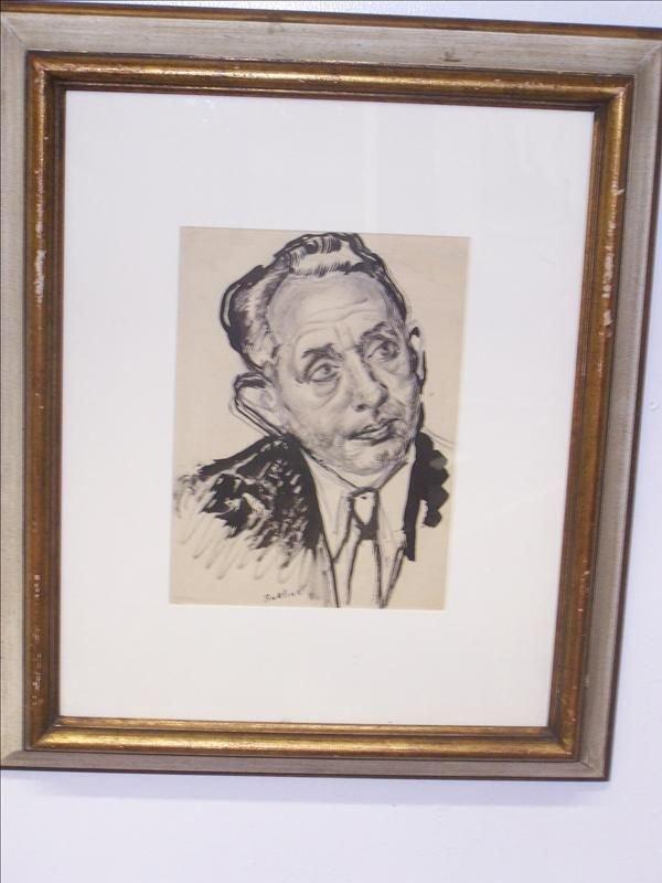 2B: Signed Burliuk Portrait of a man