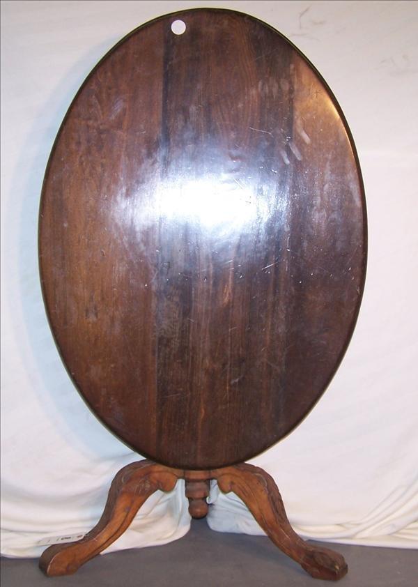 8B: English oval tilt top table, 27 1/2 h x 29 w x 41 d