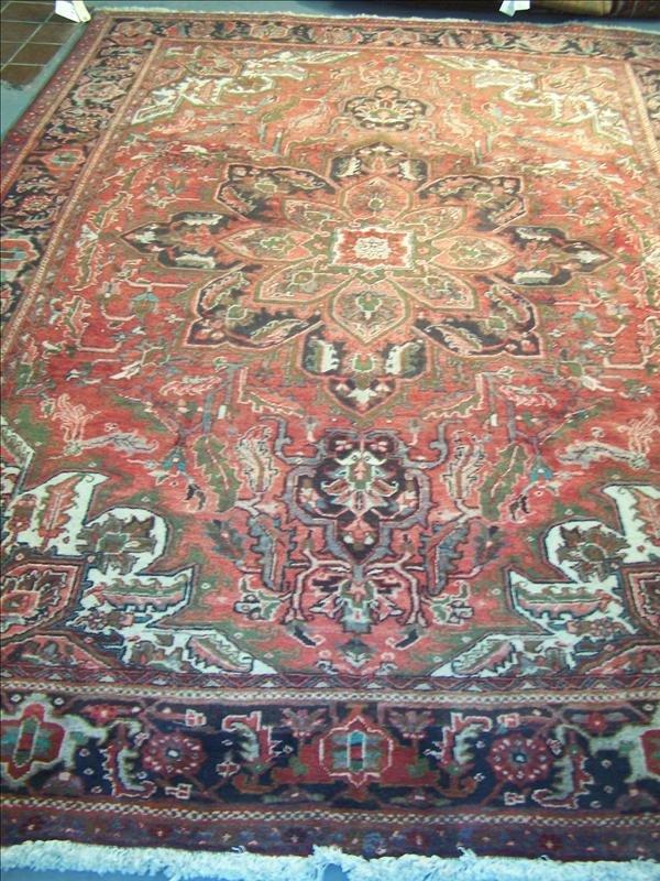 11B: Guaranteed Heriz handmade rug from Iran, 7.7' x 10