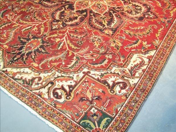 12B: Guaranteed Heriz handmade rug from Iran, 7.5' x 10 - 2