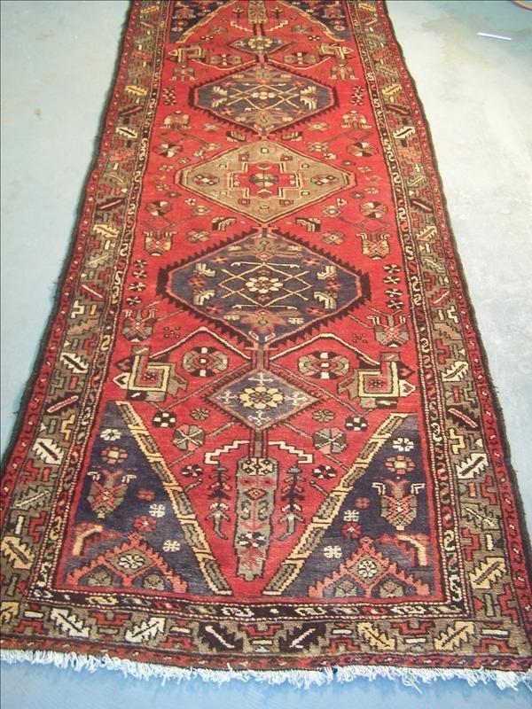 13B: Guaranteed Handmade Malayer Persian rug, 3.5' x 9.