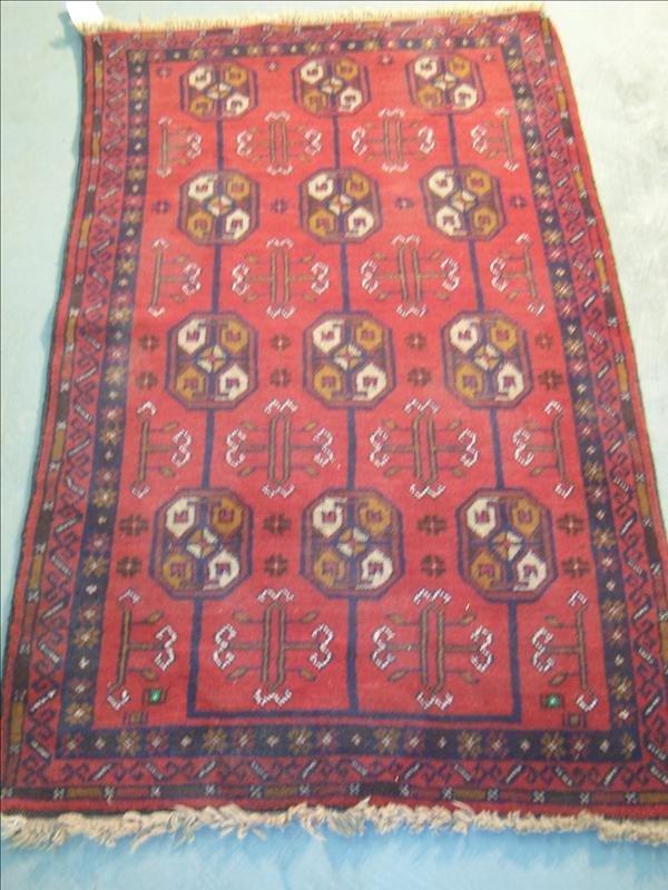 15B: Guaranteed Bokara 100% wool from Afghanistan, 2.9'
