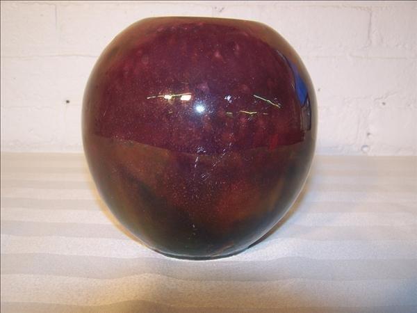 18B: Signed Holland Chantal 900 brown vase, 6 1/2 diam