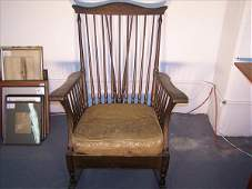210B: Signed Quaint Stickley Brothers rocking chair, 30