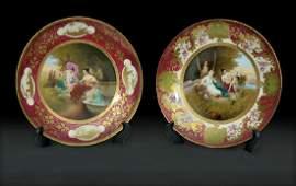 Huge 19th C. Royal Vienna Porcelain Plates