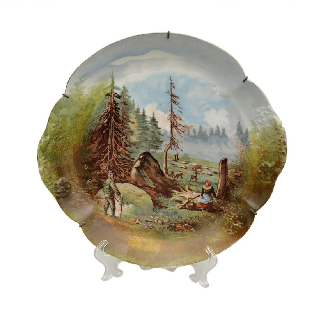 Hand painted scenic Limoges Theodore Haviland 1895
