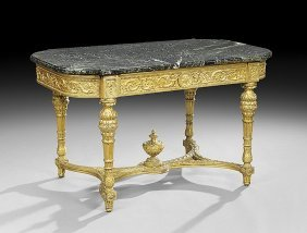 19th C. Louis Xvi Style Giltwood Center Table