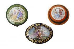 19th C. Miniature Sevres Boxes