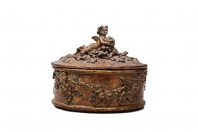 19th C. Carved Wooden Box