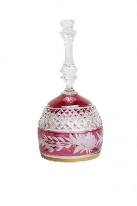 19th C. Bohemian Glass Bell