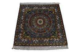 Chinese Silk Hand knotted Kashan Rug