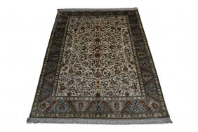 Chinese Silk Hand Knotted Tabriz Rug