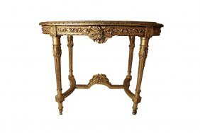 French Oval Giltwood Table