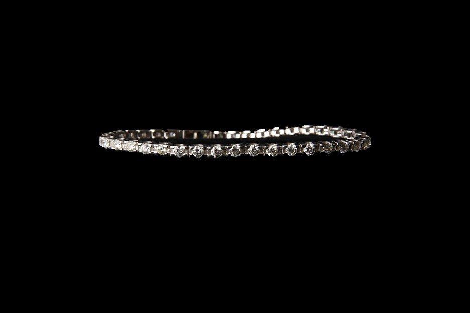 14K Gold Tennis Bracelet with 4.61 CT Diamonds