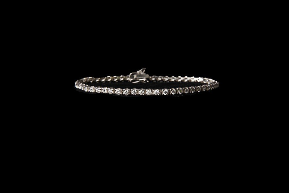 14K Gold Tennis Bracelet with 6.12 CT Diamonds