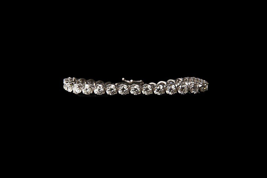 14K Gold Tennis Bracelet with 7 CT Diamonds