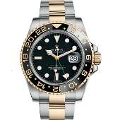 Rolex Half Gold GMT-Master II Oyster Perpetual Men's