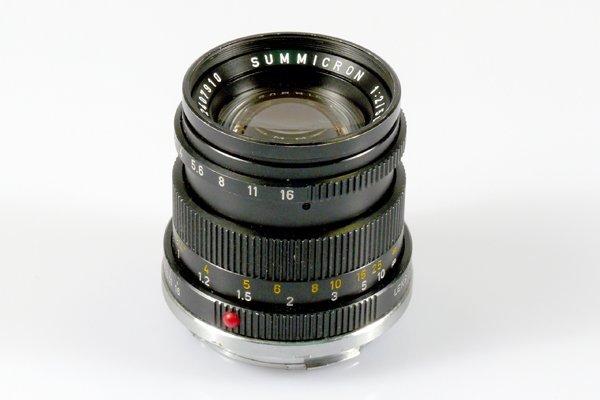 436: 50mm Summicron f2 Black Wetzlar Nr. 2407910.