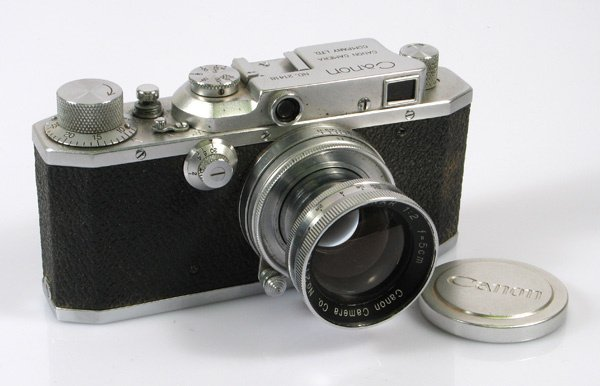 3: Canon S-II Nr. 21418 with 50mm Serenar f2 Nr. 21156.