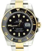 Pre-Owned Gents Rolex Oyster Submariner 18K Gold