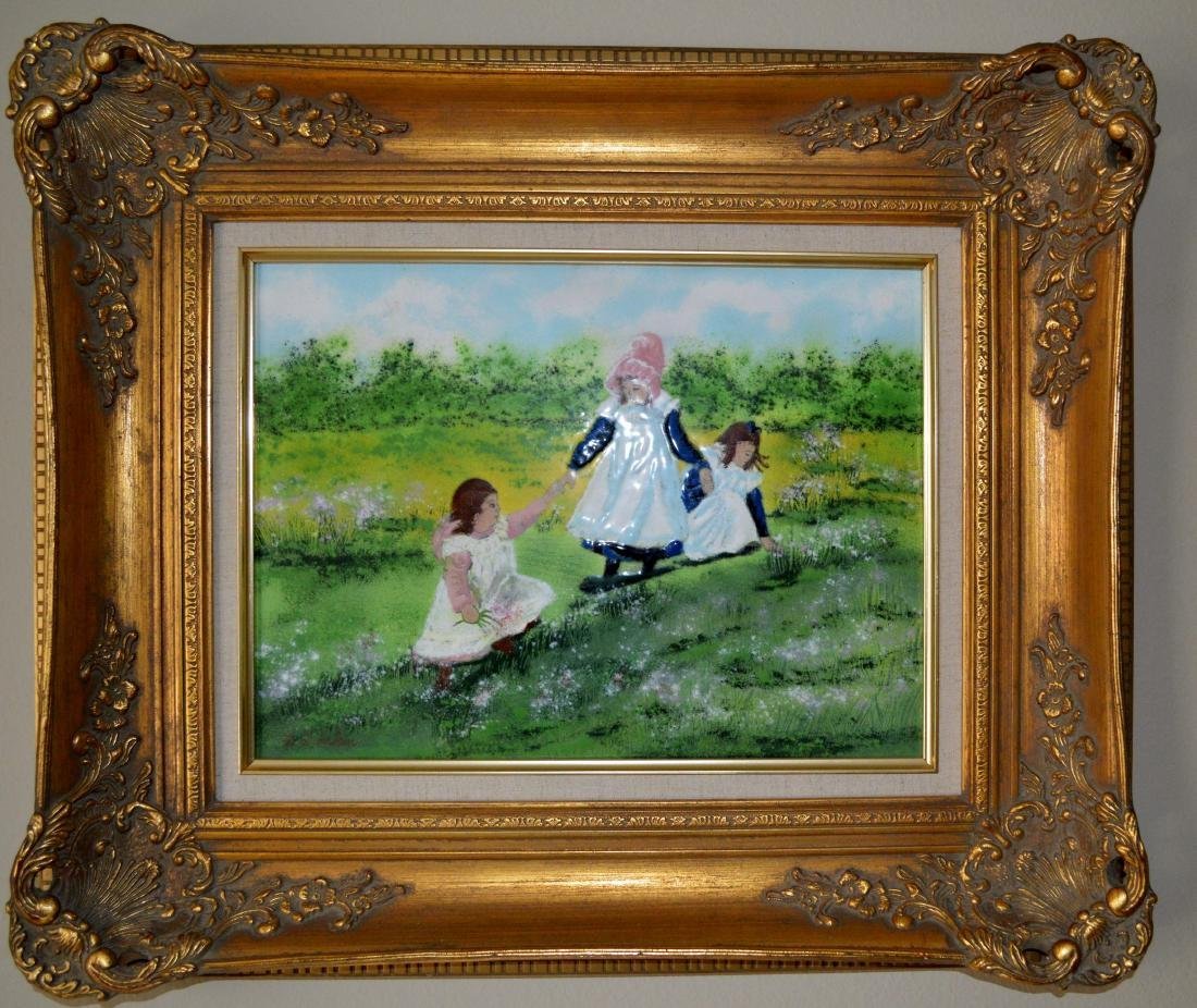 Carol Simkin- 3 Girls On The Grass