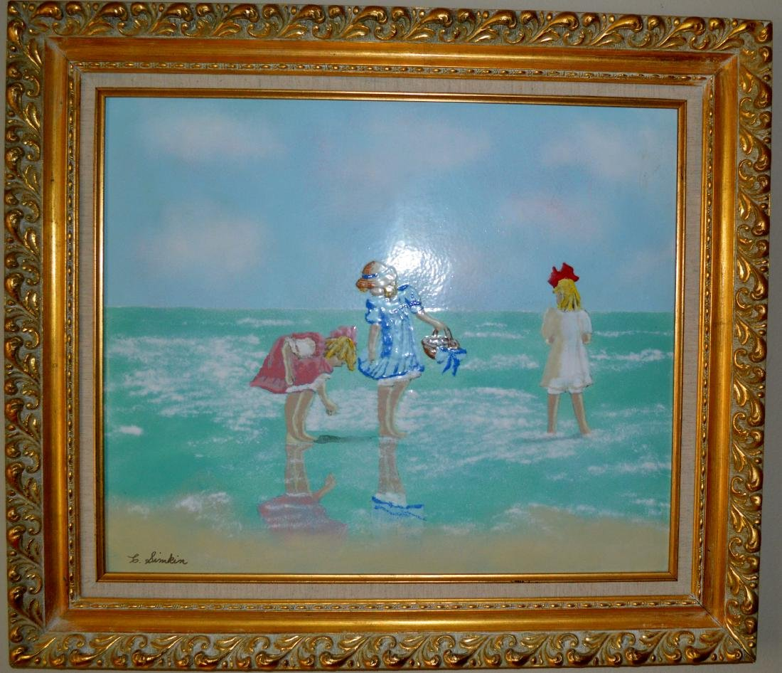 Carol Simkin - 2 Girls at the Beach