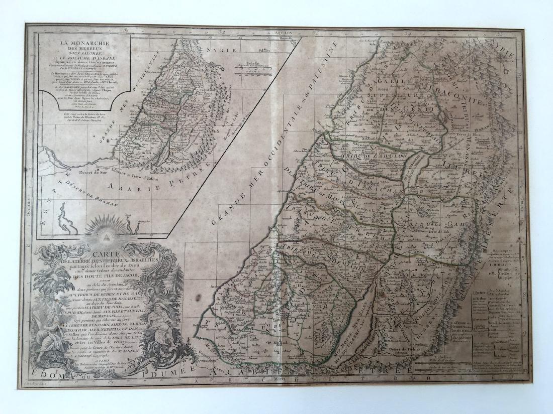 1745 Land of the Hebrews or Israelites Map 1st Printing