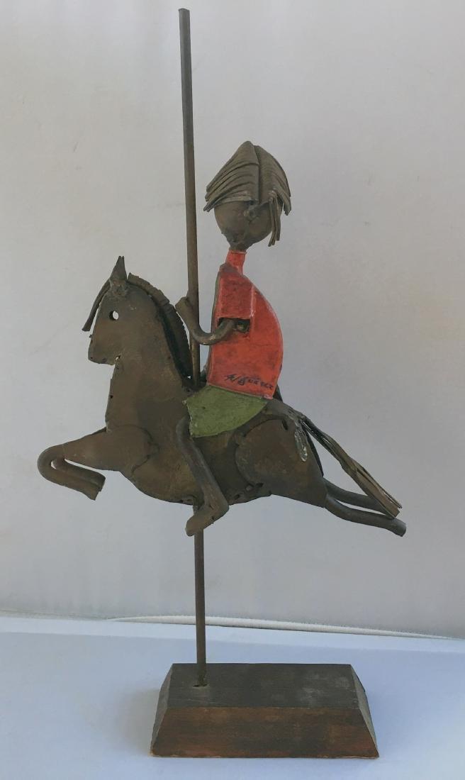 1980's Scrap Metal Signed Don Quixote Statue
