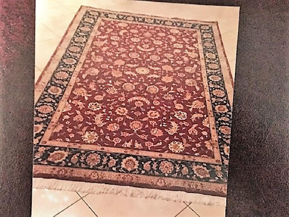 Tabriz Style Hand Made Lamb's Wool Rug