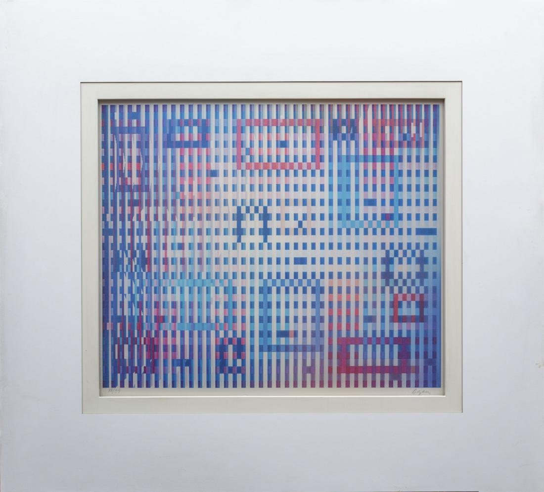 Yaacov Agam-Magic Rain Dusk- Signed