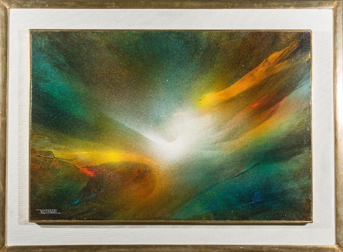 Leonardo Nierman - Flight in the Mist Signed Oil