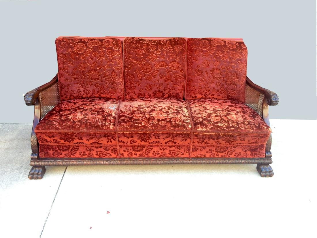 GERMAN MOHAIR CLUB SOFA