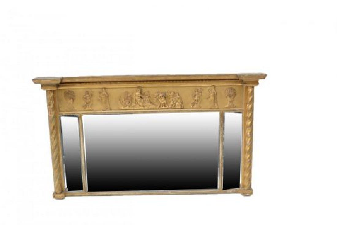 AMERICAN GILDED NEOCLASSICAL STYLE MANTLE MIRROR